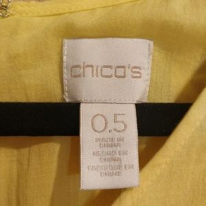 Chico's Dresses - BRAND NEW Yellow Sundress with Lace Sleeves